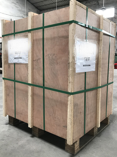 wooden pallet of solder wire